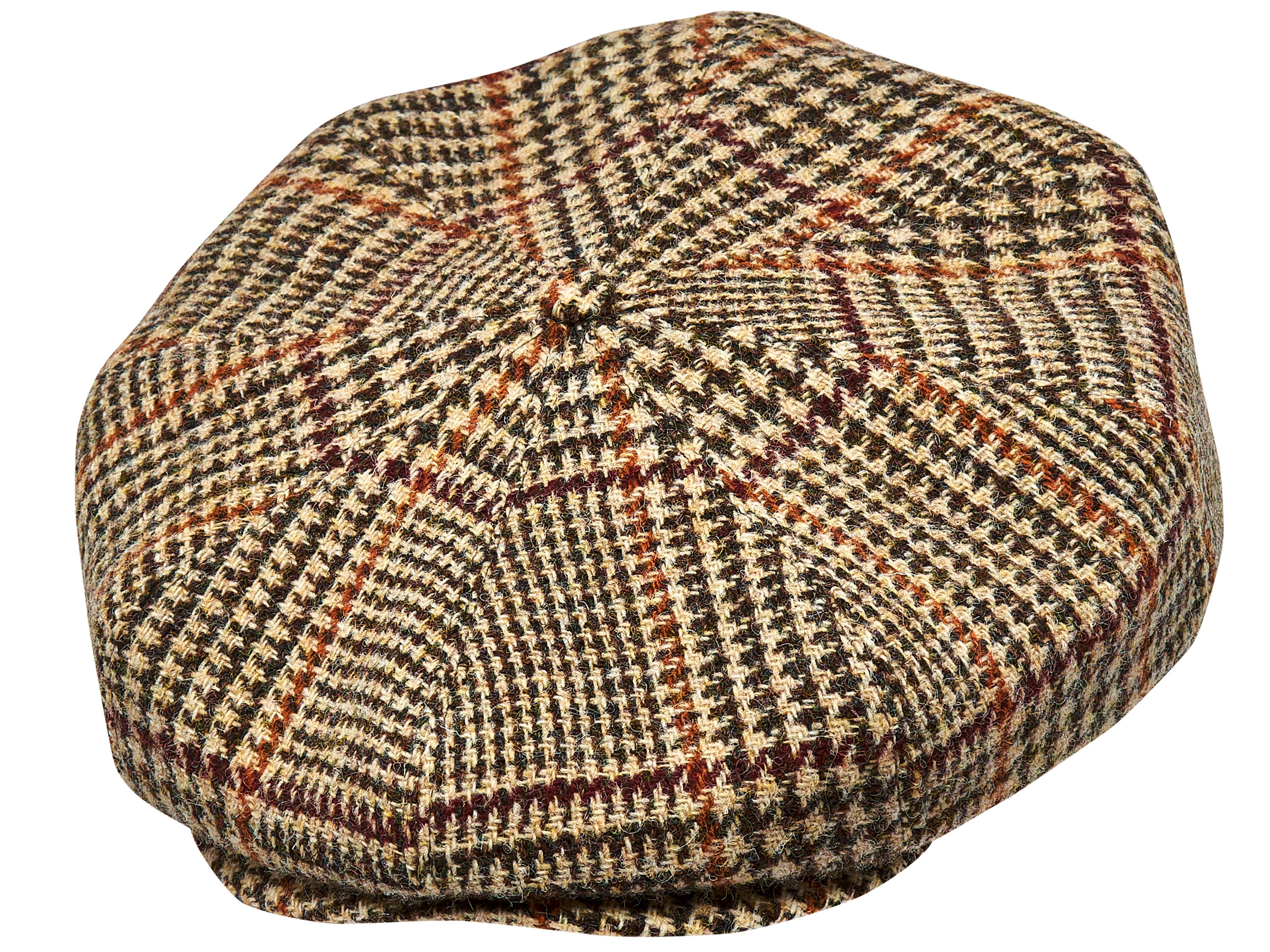 16b3f27dbeb33 Ivy Five - winter   autumn man flat cap Harris Tweed flat cap - black    gray herringbone