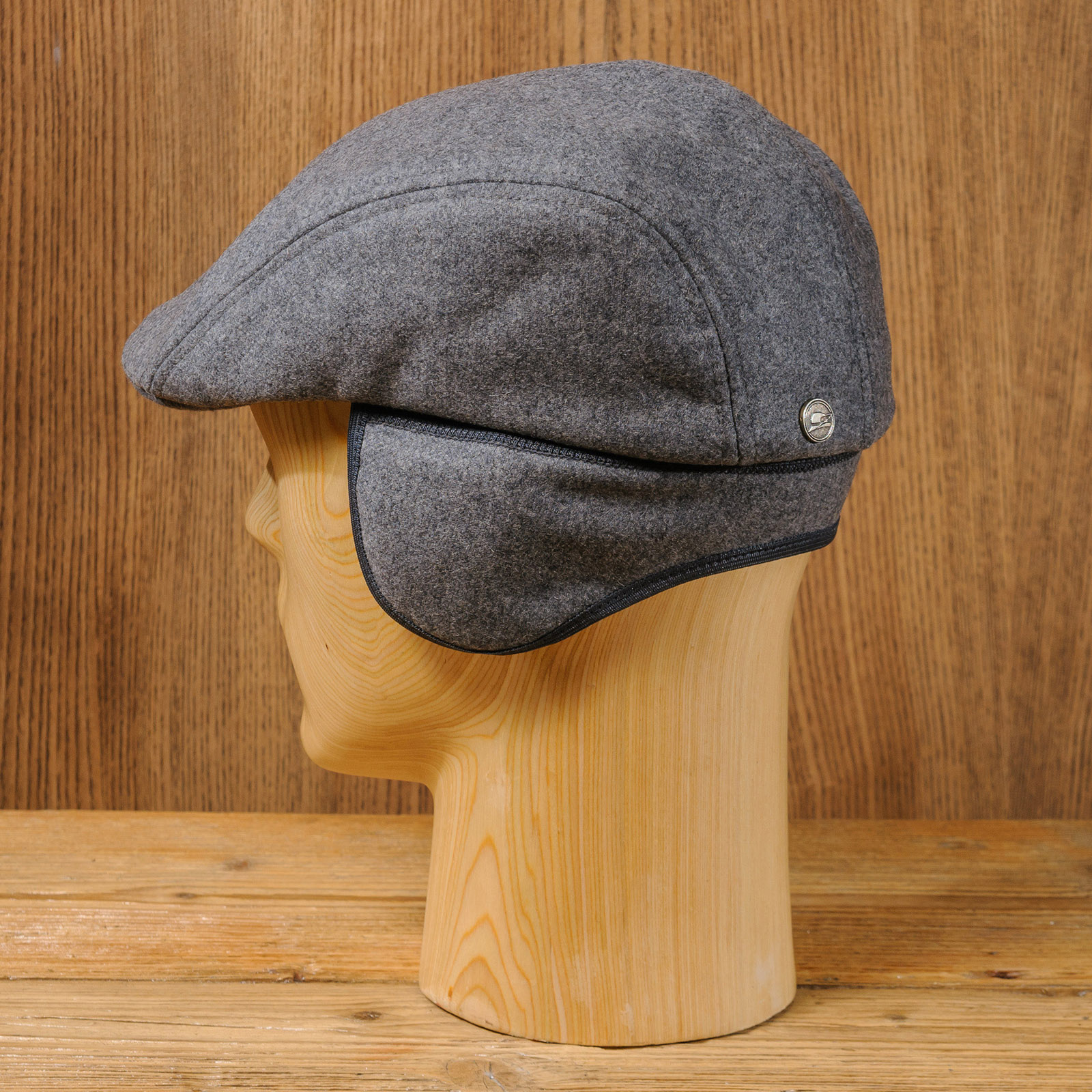 Classic wool english flat cap winter warm earflap hat