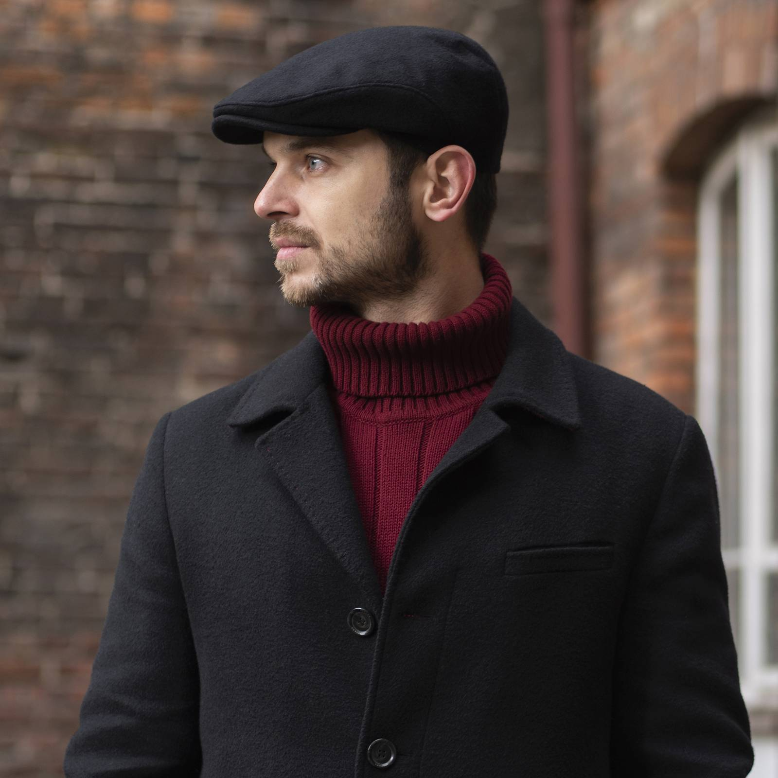 Cashmere and wool autumn flat cap