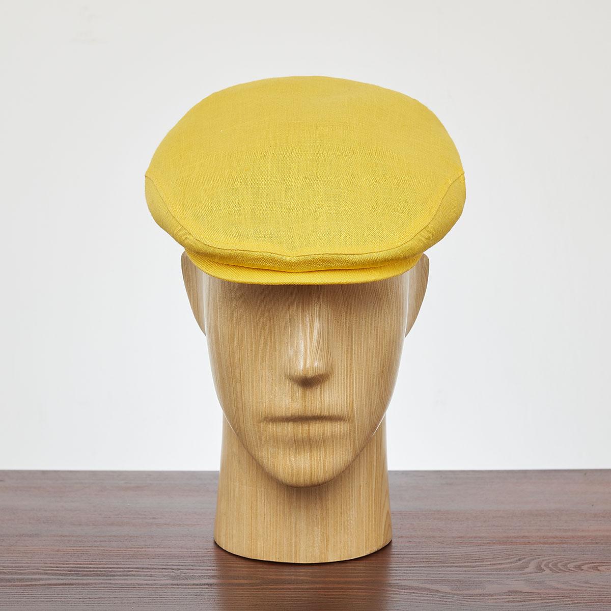 Classic summer flat cap airy lightweight linen ivy league sun hat