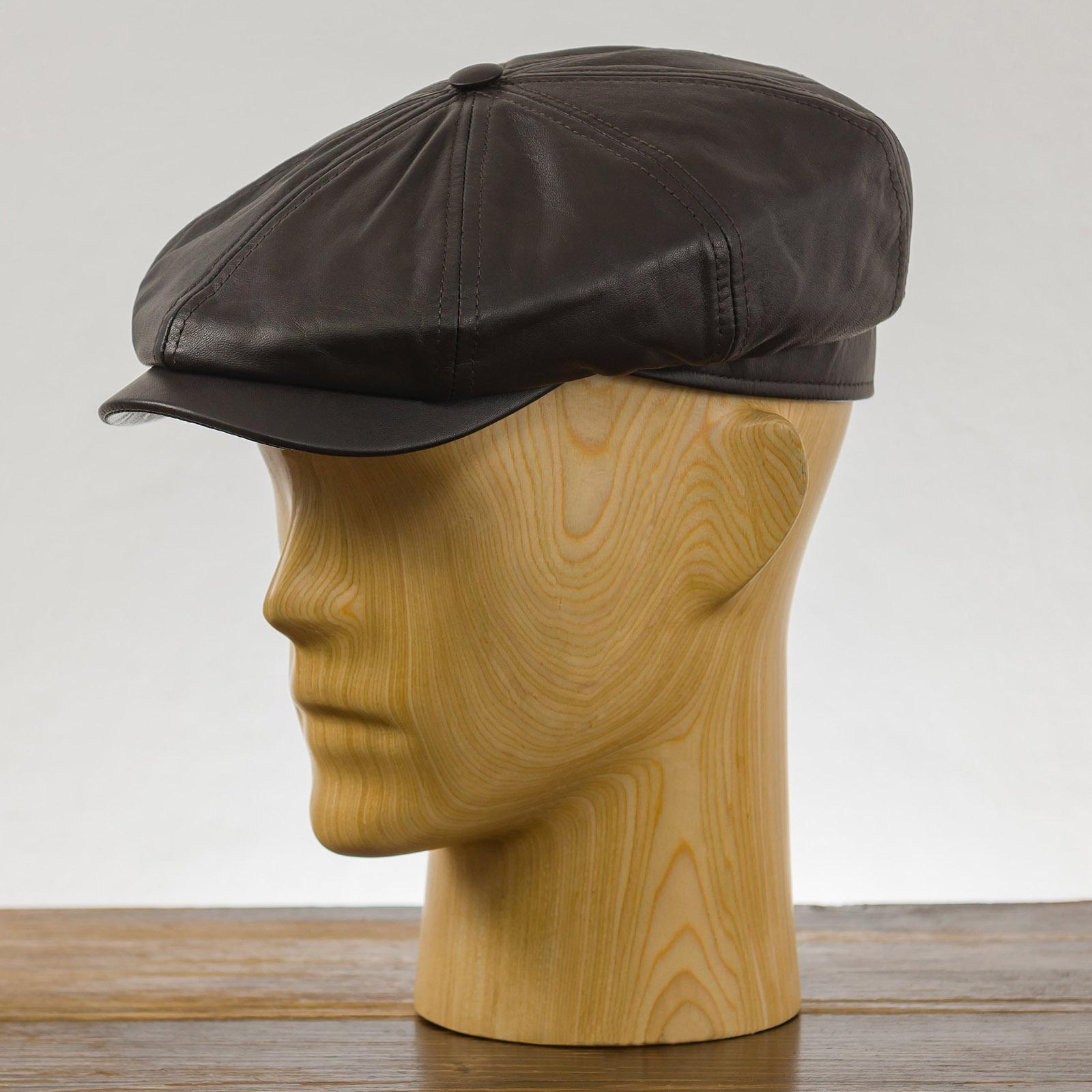 Genuine Leather Gatsby baker boy hat newsboy poor boy applejack paper boy ivy league