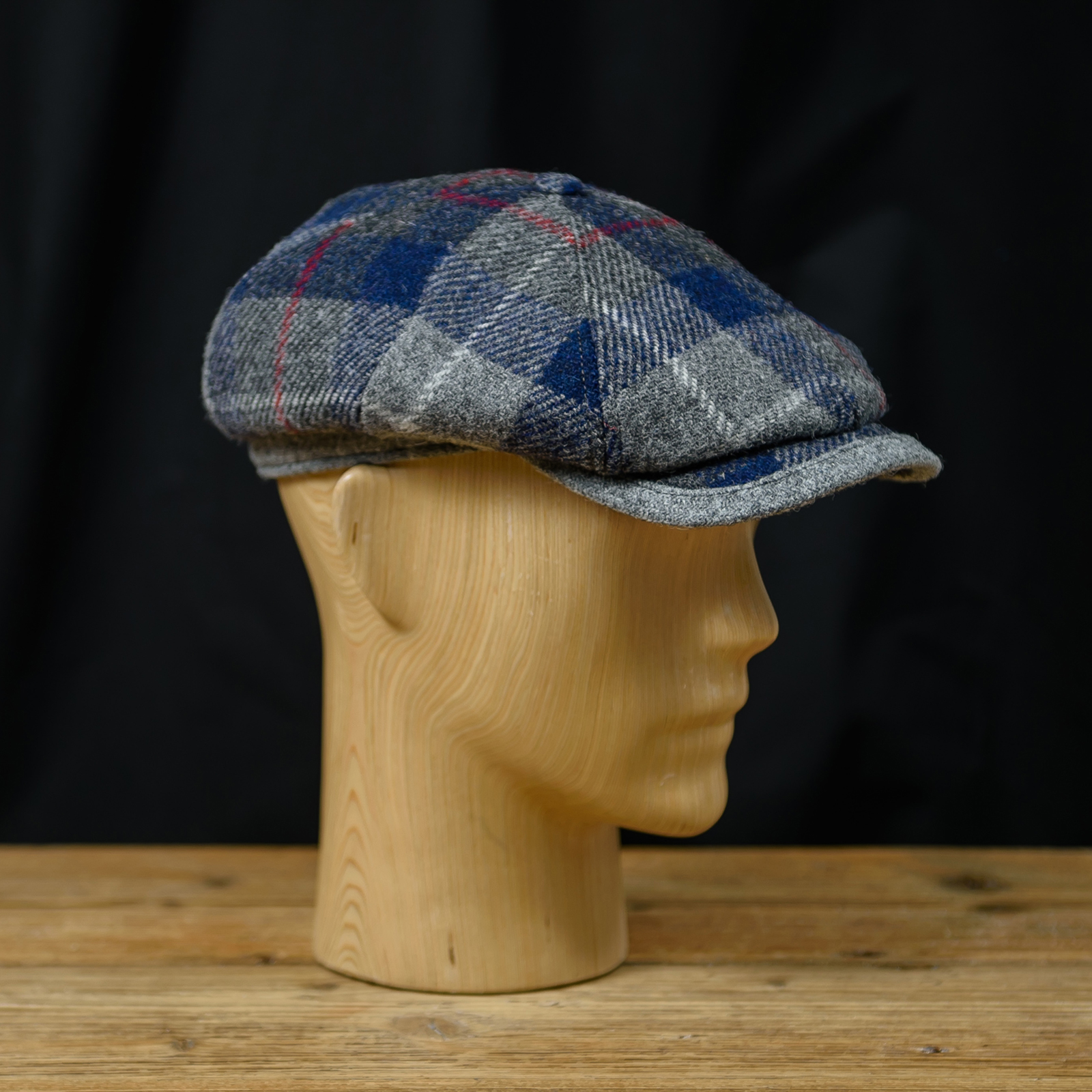 Genuine Scottish Harris Tweed ivy league cap Gatsby newsboy applejack paper baker poor boy