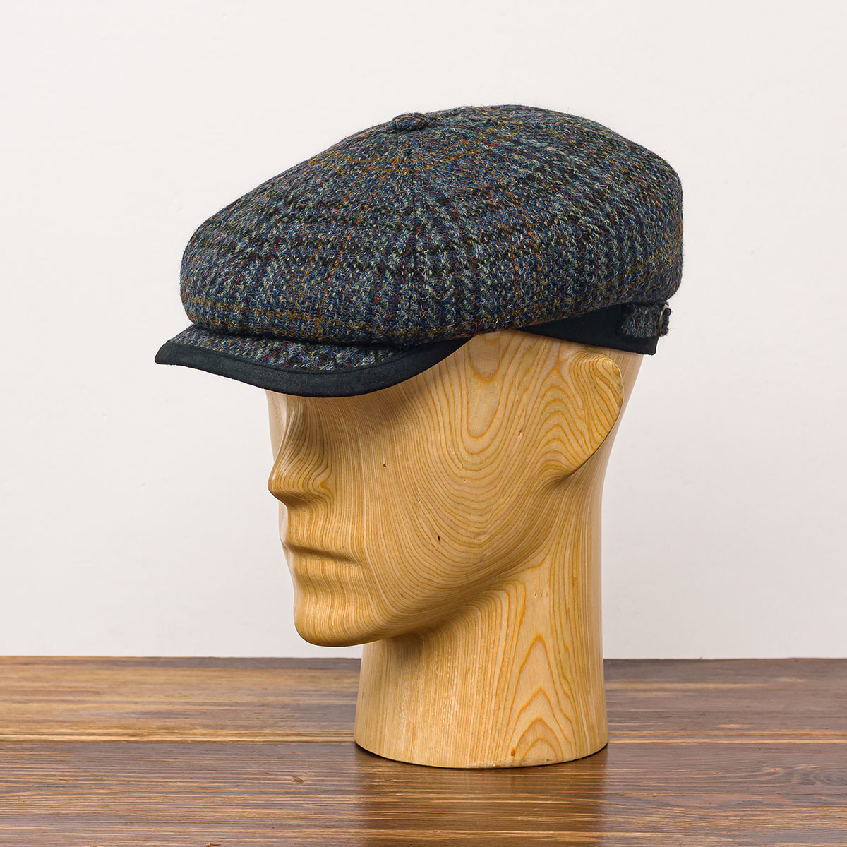 Genuine Scottish Harris Tweed pure wool Gatsby cap baker boy newsboy applejack paper poor boy