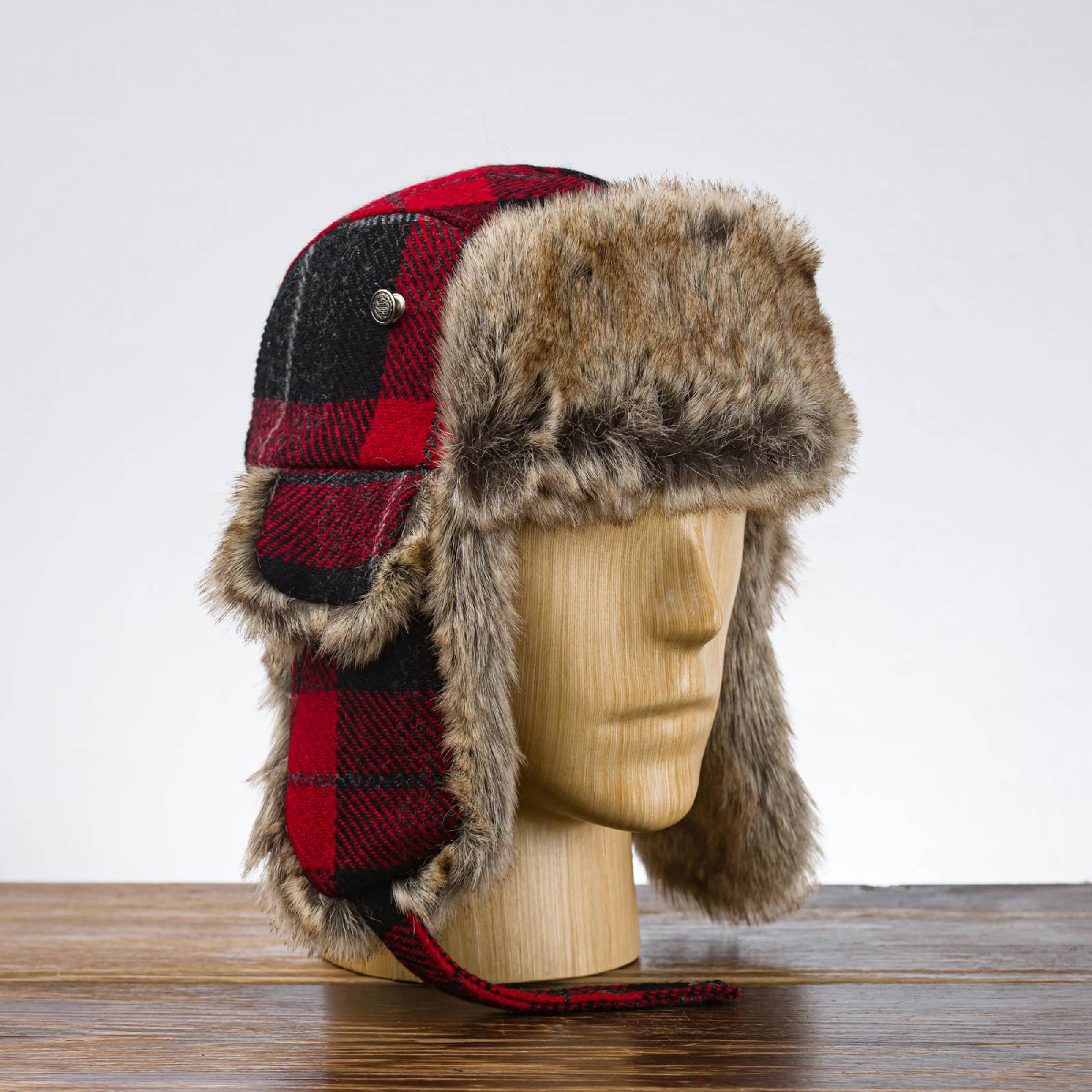 Genuine Harris Tweed fall trapper hat