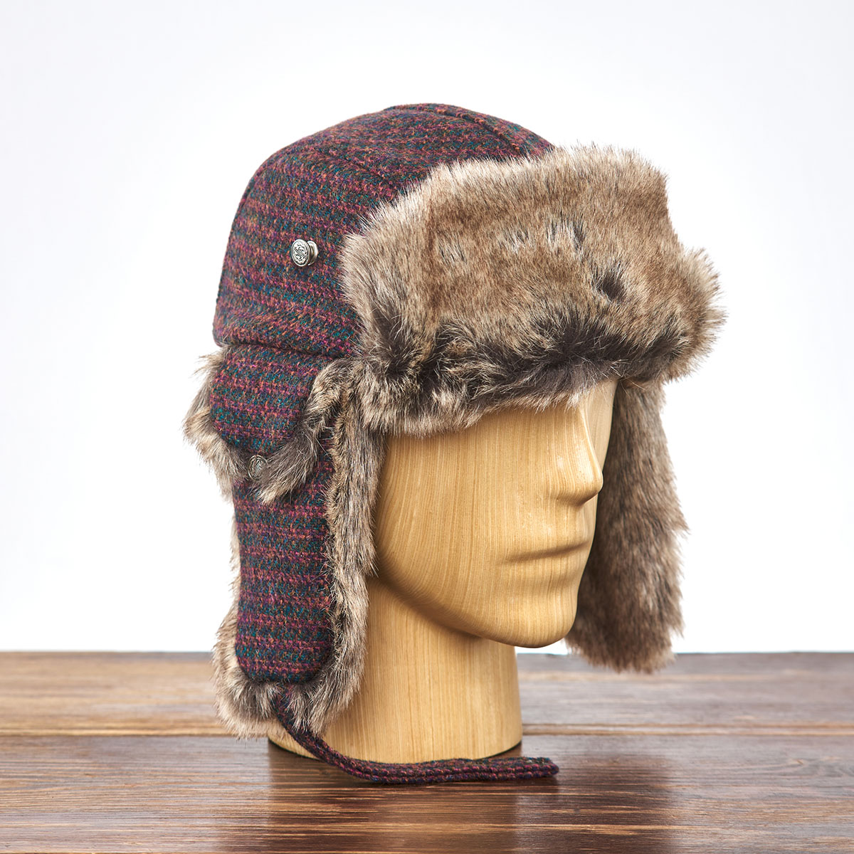 Genuine Harris Tweed fall trapper hat