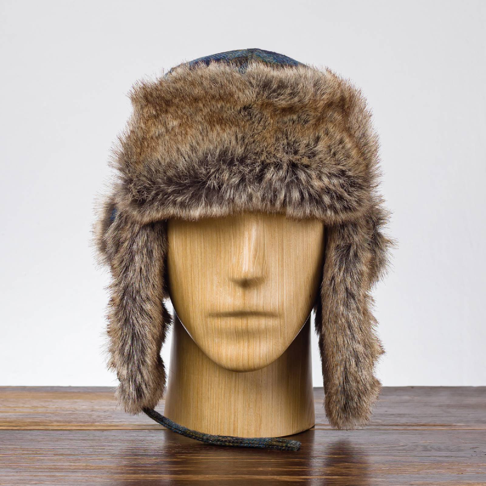 Shetland pure wool autumn trapper cap