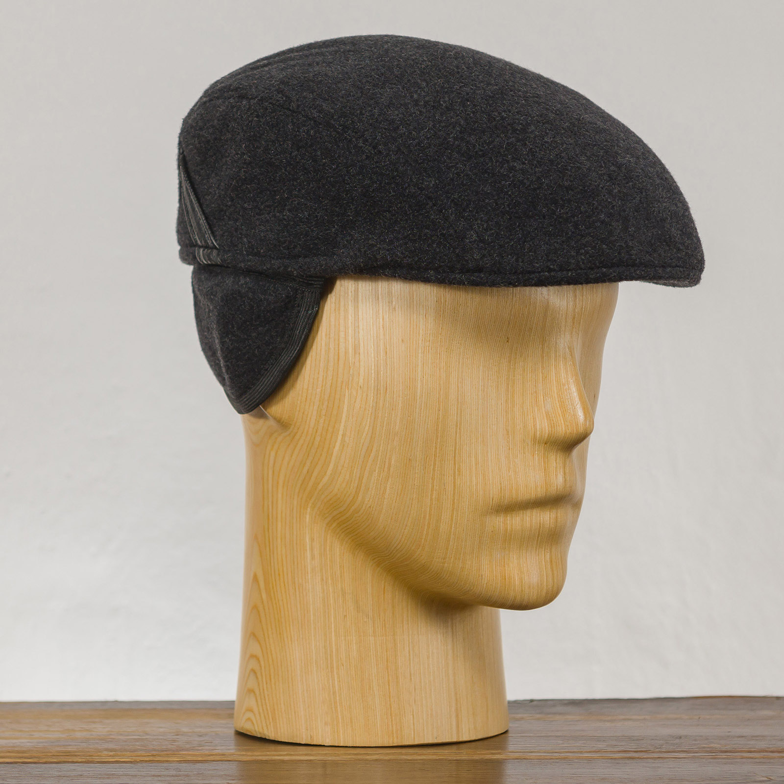 Melton wool flat cap with foldable earflap jeff paddy irish driving English Gatsby mens ivy hunting scally