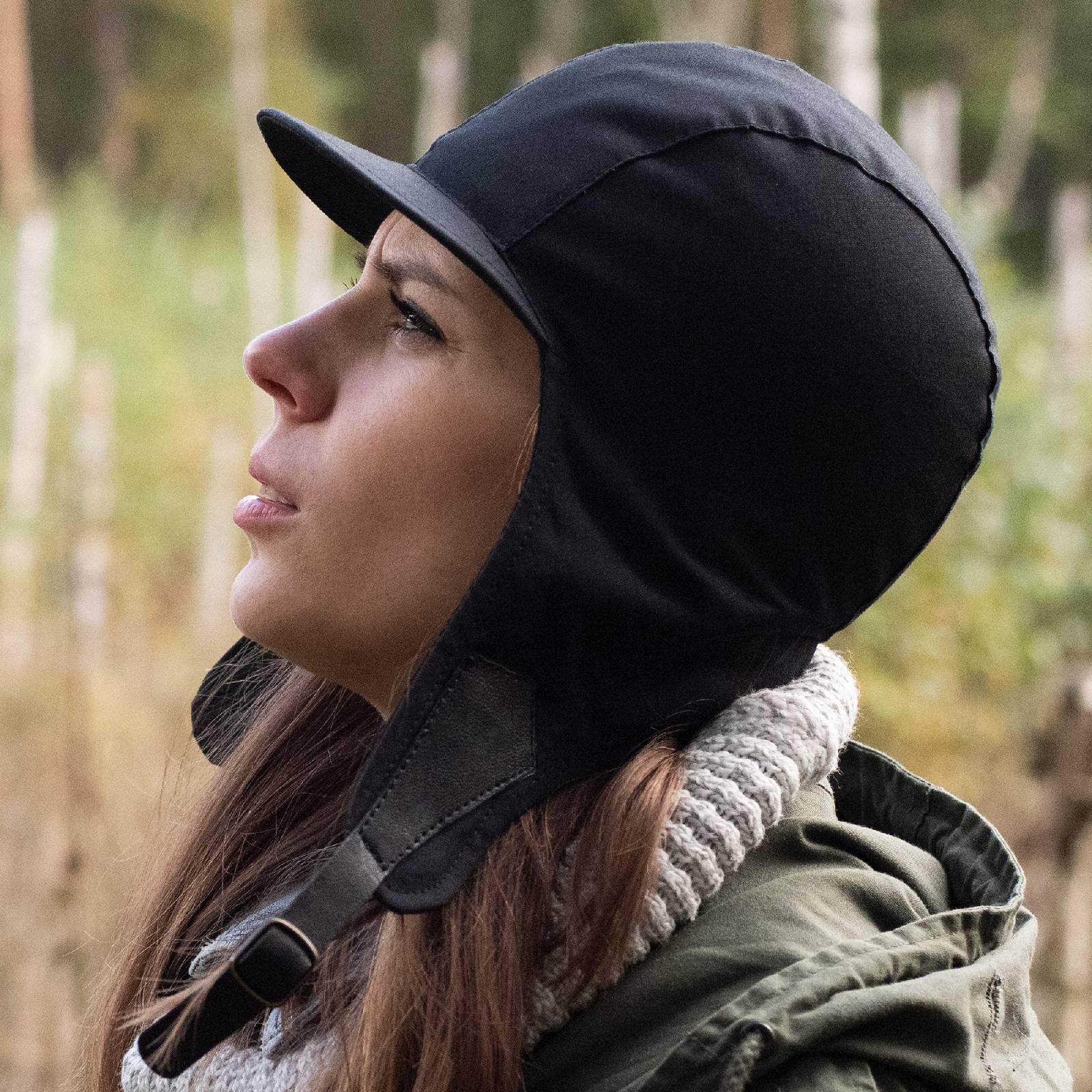 Waterproof waxed cotton womens trapper hat kamikaze outdoor hunter cap chapka