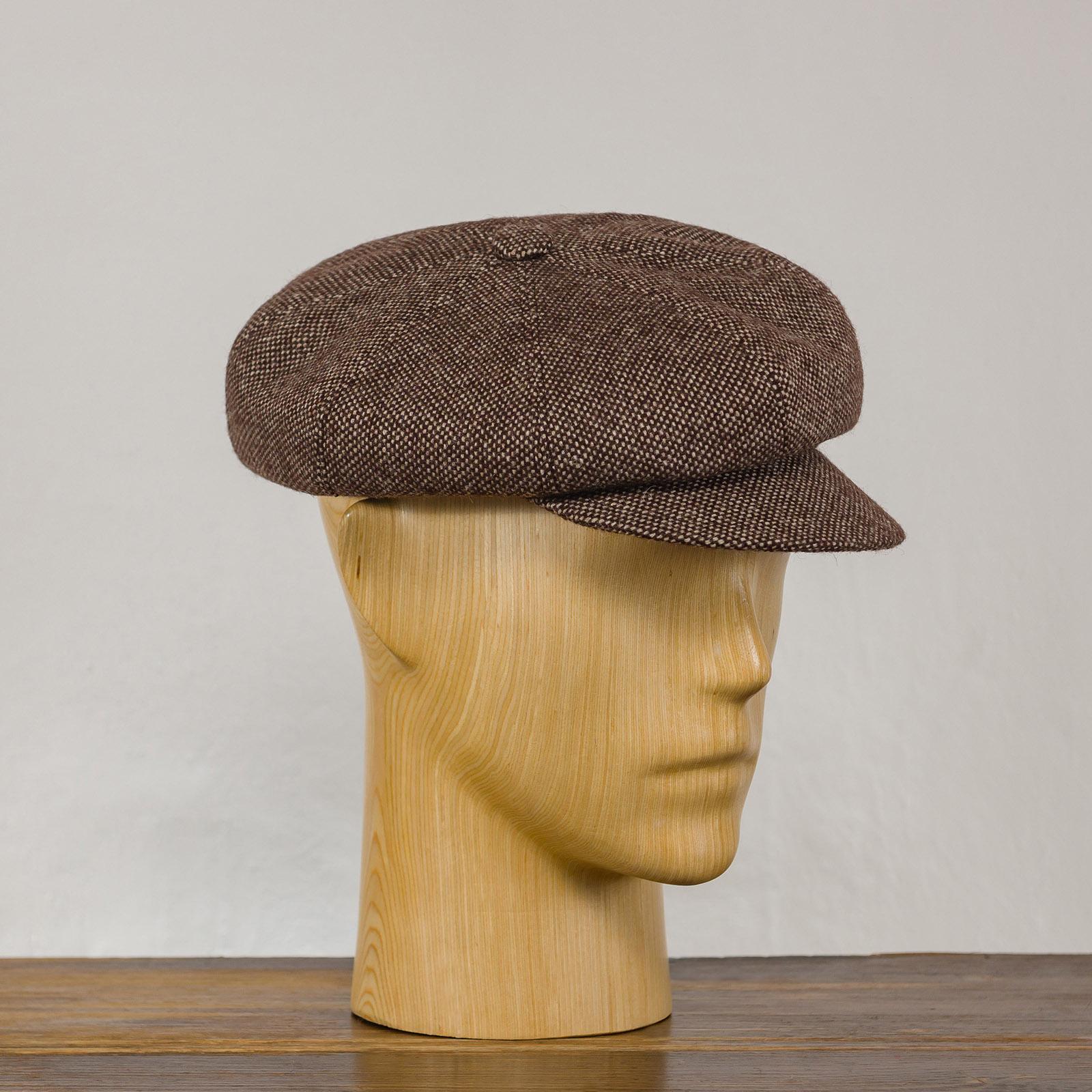 Tweed wool cloth newsboy 8 panels peaked cap applejack hooligan ivy poor baker boy Gatsby balloon prohibition driver hat