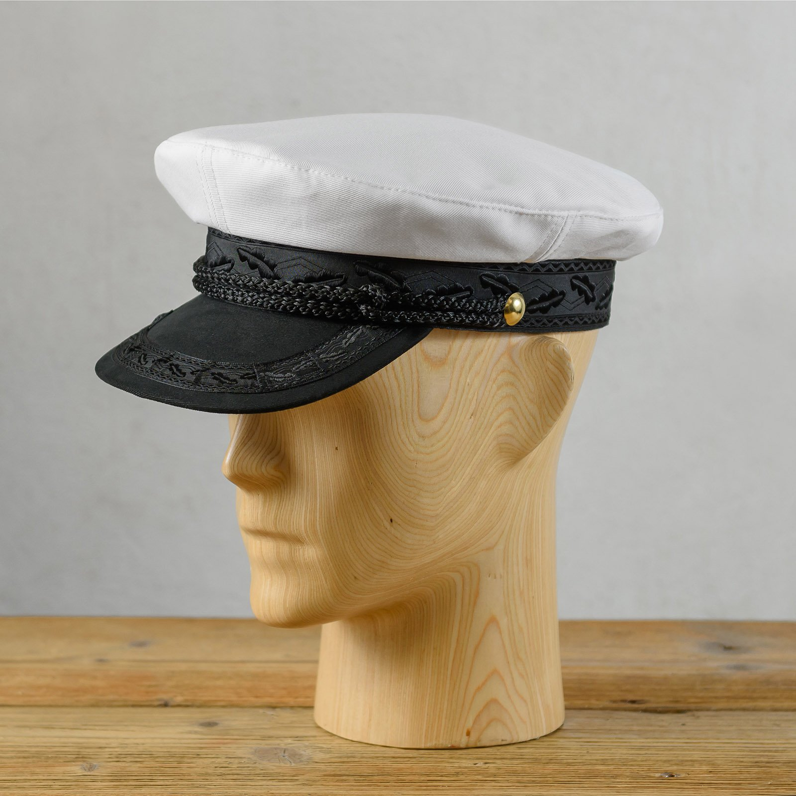 Cotton traditional Polish peaked twine cap breton greek fisherman captains sailor nautical skipper cabby fiddler hat