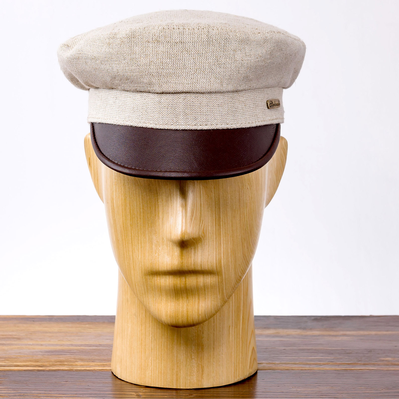 Fiddler linen skin peaked greek fisherman cap airy light sailor boatman mariner barge cab driver milkman jewish tevia camper sun